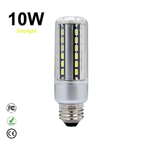 LED Corn Light Bulb,10W Daylight Super Bright LED Corn Light Bulb For Residential and Commercial Projec E26/E27 (100W Incandescent Bulb )