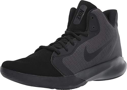 Nike Precision III Nubuck Basketball Shoe, Black/Black-Anthracite, 11 Regular US (Top Nikes High Shoes)