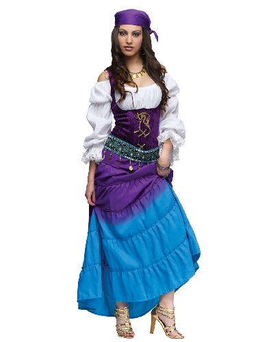 [Fun World Women's Gypsy Moon Costume, Multi, Med/LRG] (Gypsy Costume Head Scarf)
