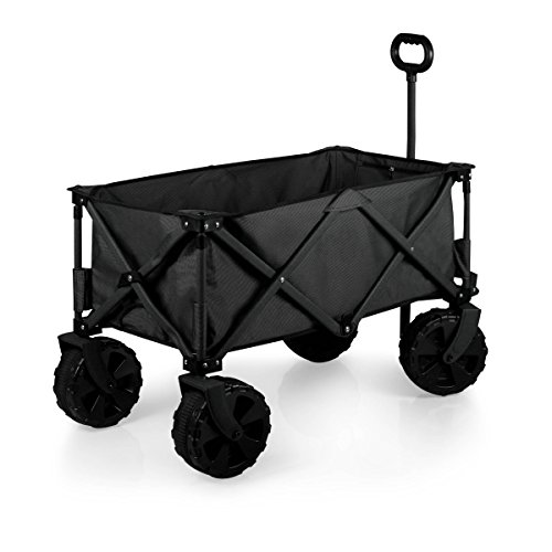 (ONIVA - a Picnic Time Brand Collapsible Adventure Wagon with All-Terrain Wheels, Black/Gray)