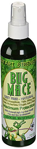 BugMace All Natural Mosquito & Insect Repellent Bug Spray, Repels Insects, Bugs and Mosquitoes. Pure Organic Blend, Long Lasting, DEET FREE and 100% Safe for Babies, Children and Adults.4oz