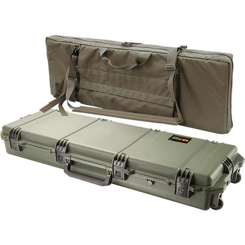 Pelican iM3200 FieldPak Rifle Case with Wheels & Soft Shell Padded Bag, Olive Drab Green/Coyote Tan