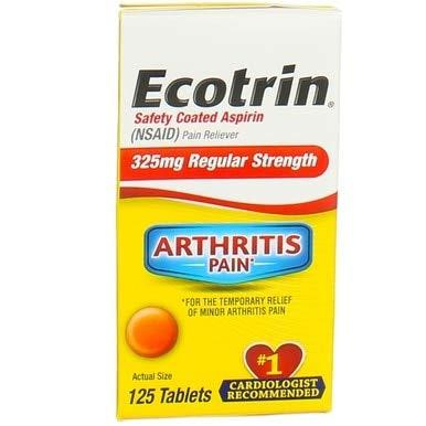 Ecotrin 325 mg Regular Strength Tablets 125 ea (Pack of 2)