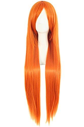 Long Straight Orange CosPlay Wig