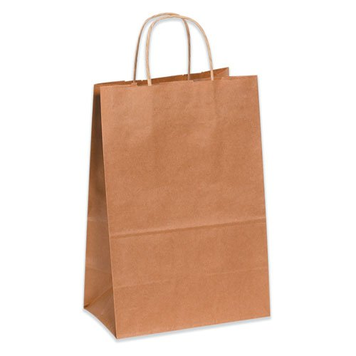 18'' x 7'' x 18 3/4'' Kraft Shopping Bag  (BGS111K) Category: Paper Bags by Box Partner