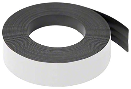 Magnet Expert® White 25mm wide x 0.76mm thick Magnetic Gridding Tape ( 5 x 5 Metre Lengths ) Magnet Expert® MFL25(MW)-5X5M