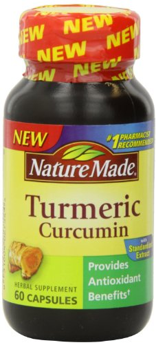 Nature Made Turmeric Capsules 500 Mg, 60 Count (Pack of 3)