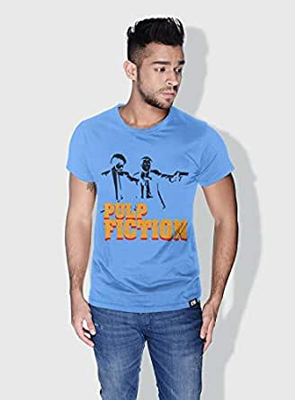 Creo Pulp Fiction Movie Posters T-Shirts For Men - L, Blue