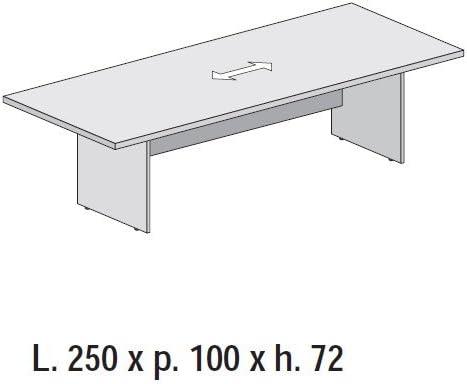 Mesa reunión escritorio Oficina 250 x 100 estructura panel madera ...