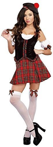 Costumes Scotland (Scottie Hottie Womens Sexy Scotland Scottish Halloween Costume)