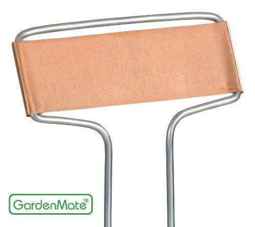 GardenMate 25-Pack Weatherproof Banner Copper Metal Plant Labels, Height 10.5