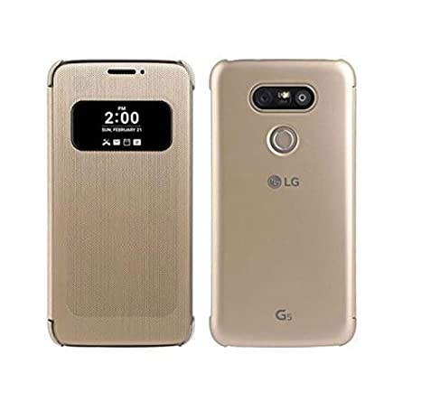 info for 95a5e 6a816 SmartLike Leather Flip Cover for LG G5 Gold: Amazon.in: Electronics