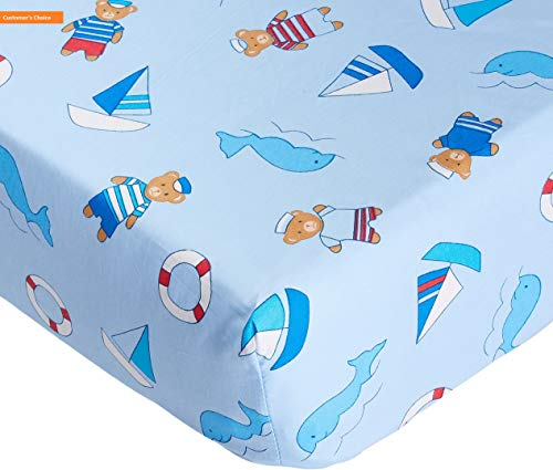 (Mikash New Soft 100% Cotton Standard 2 Piece Crib Sheet Set for Boys, Fitted Sheets | Style 84599765)