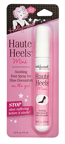 Hollywood Fashion Secrets Haute Heels Mini Spray for Foot relief, works all types of shoes, 0.5 oz