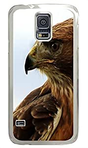design Samsung Galaxy S5 cases Hawk 2 Animal PC Transparent Custom Samsung Galaxy S5 Case Cover