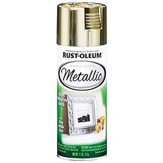 Rust-Oleum 1936830-6 PK Specialty Metallic 1936830 Spray Paint 11 oz, Brass, 6-Pack, 6 Pack, 66 Fl Oz