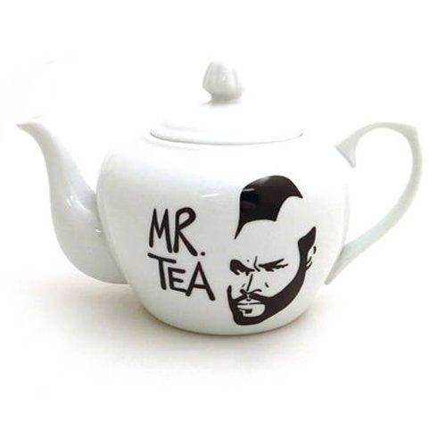 Mr. Tea White Stoneware Teapot