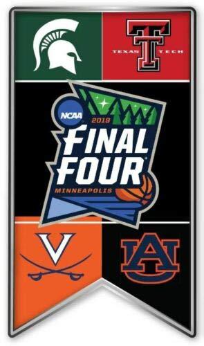 (Elusive Dream Marketing Services 2019 Mens Final Four PIN NCAA Basketball March Madness All 4 Teams Texas TECH Virginia Michigan Auburn)