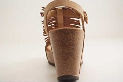 Reqins - Zapatos de vestir para mujer marrón
