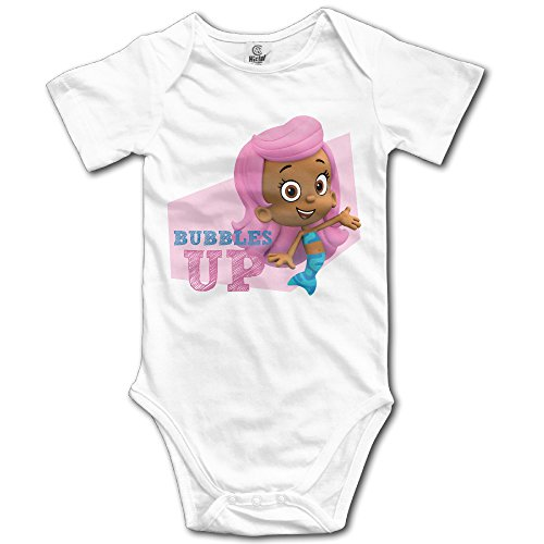 Molly Bubble Guppies Up Custom Baby Unisex Jumpsuits Cotton (Mischa Bear)