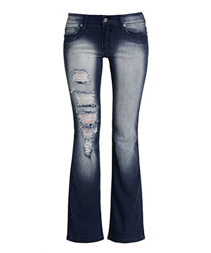 Flared Jeans Cut Pants - 3