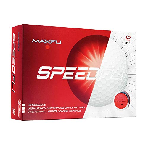 Maxfli SpeedFli High Launch Low Spin Golf Balls (Matte Red)