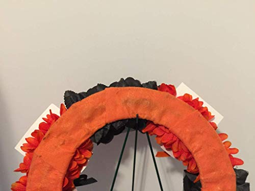 COLLEGE PRIDE - SPIRIT - OSU - OREGON STATE UNIVERSITY - BEAVERS - BENNY THE BEAVER - DORM DECOR - DORM ROOM - COLLECTOR WREATH - ORANGE MUMS & BLACK ROSES by Peters Partners Design (Image #7)