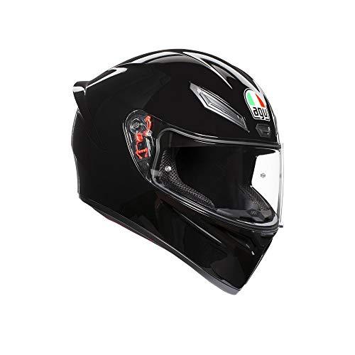 AGV Unisex-Adult Full Face K-1 Motorcycle Helmet Black Large ()