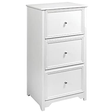 Oxford File Cabinet, 3-DRAWER, WHITE
