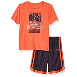 adidas Boys' Active Tee & Sport Shorts Clothing Set