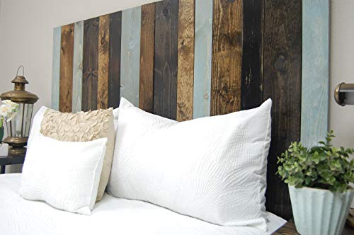 All Terrain Mix Headboard King Size, Leaner Style, Handcrafted. Leans on Wall. Easy Installation.