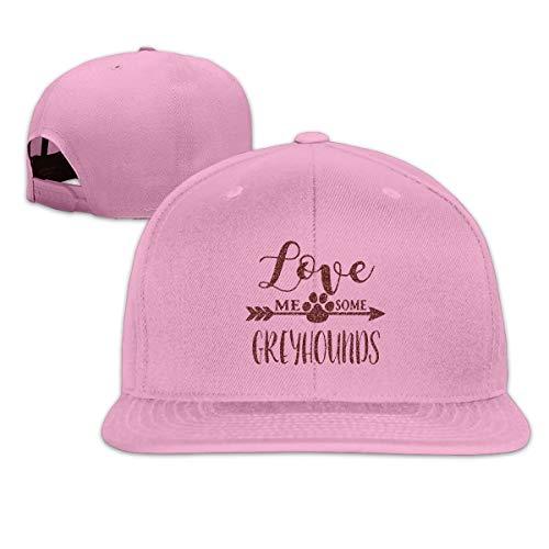 ONE-HEART HR Baseball Cap Love Me Some Greyhounds Adjustable Custom Flat Peaked Hat Unisex