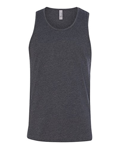 Next Level Apparel Men's Rib-Knit Fitted Tank Top, Charcoal, - Apparel Tank