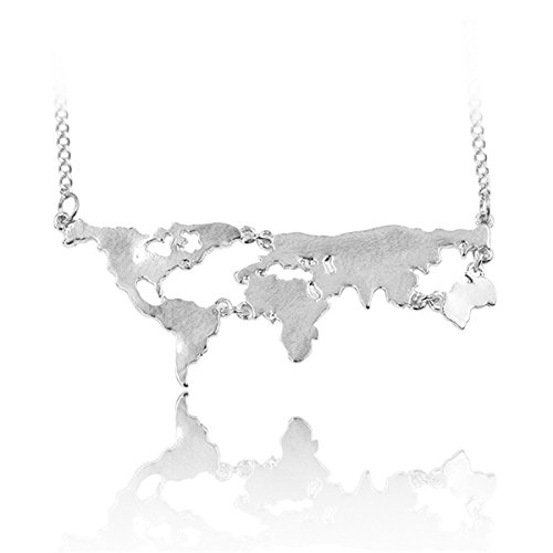 World Continents Pendant Map Necklace product image