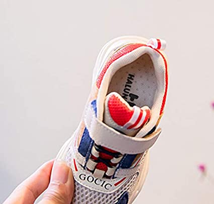 Baby Sneaker Shoes for Girls Boy Kids Breathable Light Weight Athletic Running Walking Casual Shoes,Breathable Childrens Running Shoes Blue, 17