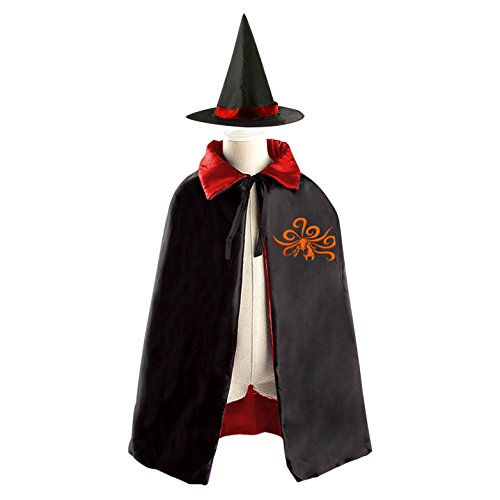 [DIY The nine-tailed fox ferocity Costumes Party Dress Up Cape Reversible with Wizard Witch Hat] (Demon Costume Diy)