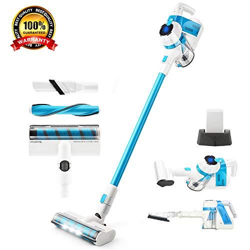 SIMPFREE Cordless Stick Vacuum Cleaner, Lightweight Handheld Vacuum Powerful Cleaning (5-in-1 Vacuum Cleaner/Extra Accessories)
