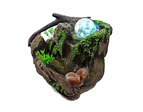 GiftsRDecor Tabletop Fountain Natures Rocky Waterfall