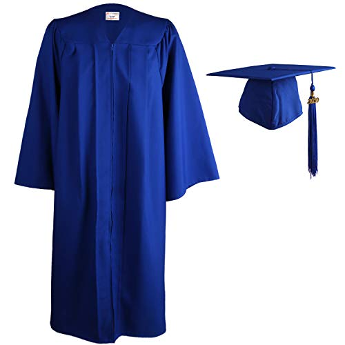 OSBO GradSeason Matte Graduation Gown Cap Tassel Set 2020 for High School and Bachelor