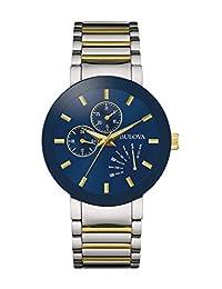 Bulova Men's Quartz Stainless Steel Dress Watch, Color: Two Tone (Model: 98C123)