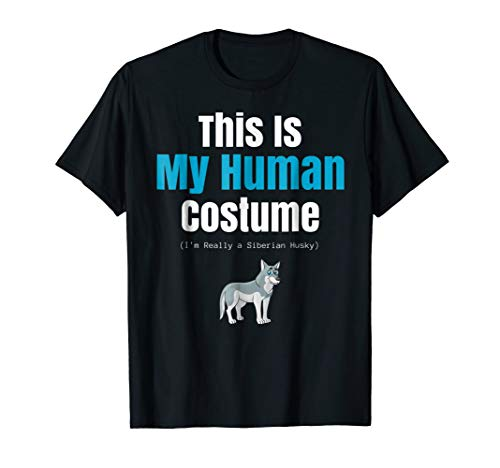 Funny Siberian Husky Halloween T Shirt for Costume Parties -