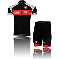 2014 Negro Castelli Ciclismo Jersey Pantalones Cortos Set