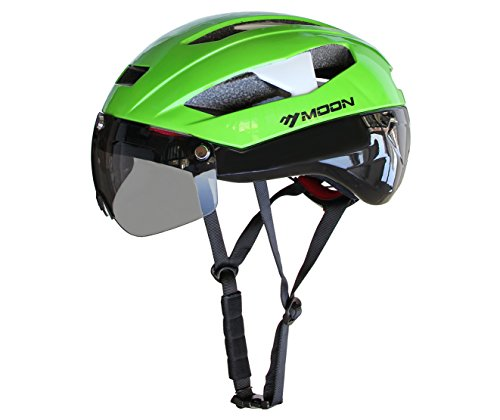 Moon-Adjustable-Cycling-Bike-Helmet-with-Detachable-Magnetic-Visor-Shield-GogglesSpecialized-for-CyclingRoad-RacingMTBUnisex-Adult-and-TeensLarge