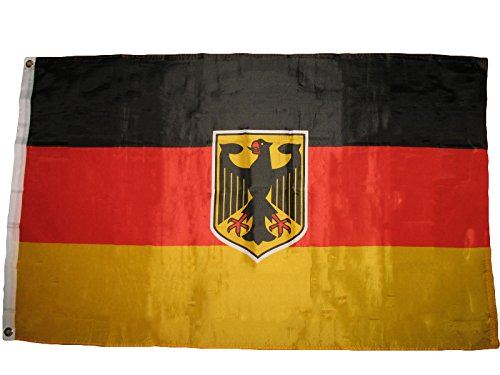ALBATROS 3 ft x 5 ft German Germany West German Eagle Crest Super Poly Premium Quality Flag for Home and Parades, Official Party, All Weather Indoors Outdoors
