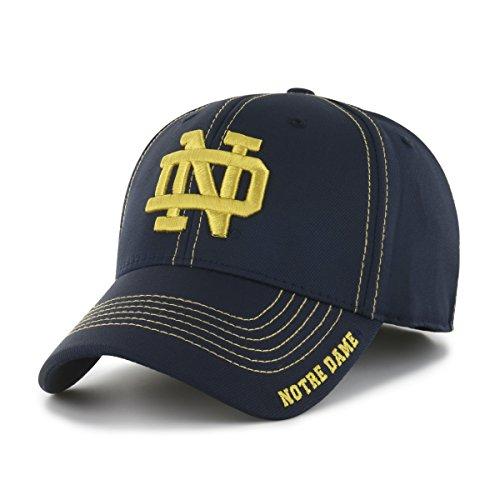 NCAA Notre Dame Fighting Irish Start Line OTS Center Stretch Fit Hat, Large/X-Large, Navy - Irish Notre Dame Soccer Ball