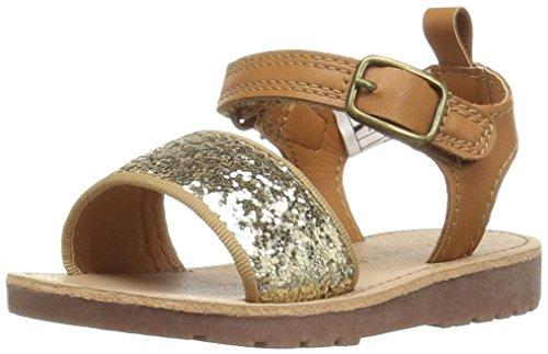 carter's April-C Girl's Glitter Sandal, Gold Glitter/Brown, 10 M US Toddler