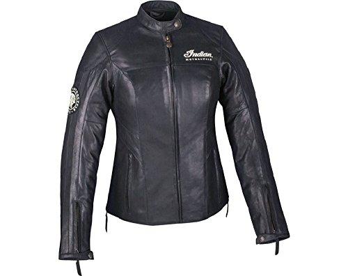 (Indian Motorcycle Women's Black Leather Effie Jacket - Medium)
