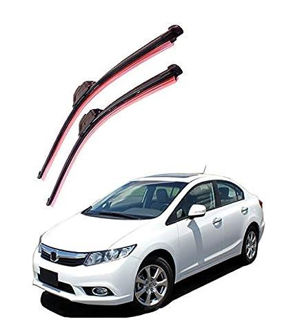 Autofurnish Frameless Silicon Wiper Blades For Honda Civic (D)26u0026quot; ...