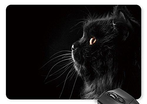 Mouse Mat Black Cute Cat Mouse Pad 11.8 X 9.8