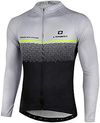 LAMEDA Maillot Ciclismo Hombre Jersey Bicicleta MTB Camiseta ...
